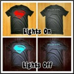 Kaos Superman Glow In The Dark